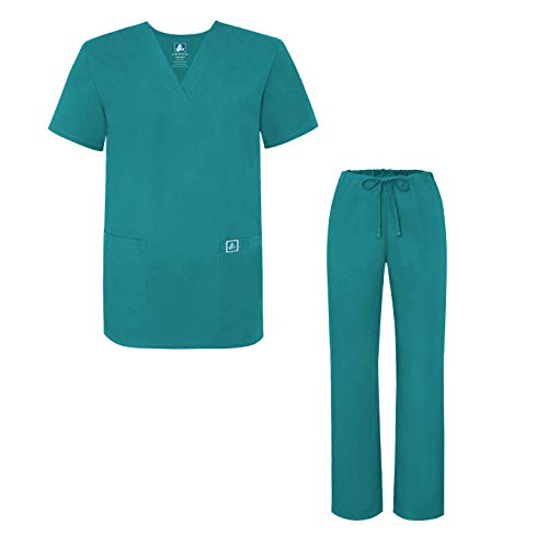 Chirurgen Scrubs Kostüm - Adar Universal Medical Scrubs Set Medical Uniforms - Unisex Fit - 701 - TBL -S