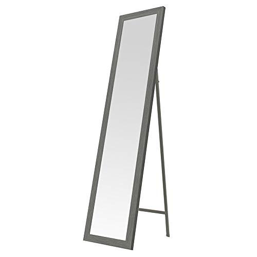 Espejo de pie nórdico Gris de Madera MDF para Dormitorio de 37 x 157 cm Arabia - LOLAhome