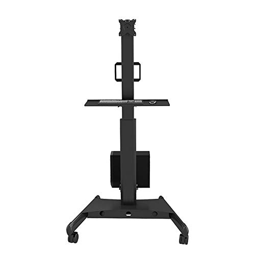 Mobile TV-Cart Floor Stand Mount Suitable Für 15-32 Inch Displays Computer Monitor Bracket Floor Mobile Lifting Keyboard Bildschirmbremse für Video Conference Hotel Schlafzimmer (Computer Und Keyboard Mount)