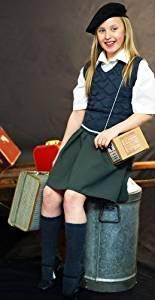 World Book Day WARTIME/WW2/1940's EVACUEE GIRLS Knitted TANK TOP-BERET/BONNET-Fancy Dress Wartime Set