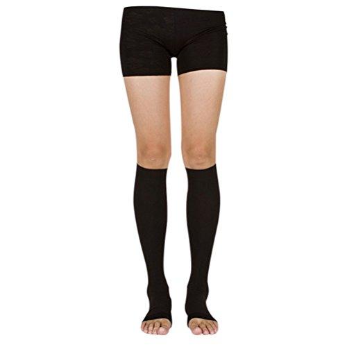 40 Mmhg Abgestufte Kompression Strumpfhosen (Hzjundasi Kniehohe abgestufte Kompression Mutterschaft Strümpfe Klasse 3 (40-50 mmHg) - Medizinisch Elastisch Strümpfe Krampfadern Socken)