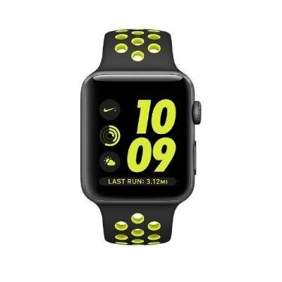 31eoWNGRB9L - [Cyberport] Apple Watch Series 2 Nike+ 42mm grau mit Sportarmband schwarz/grün für nur 339€