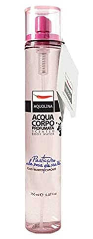 Aquolina Le Gourmand Florals Scented Body Water - Rose frosted cupcake 150ml