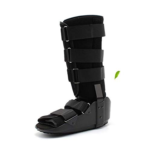 Cheng velcro regolabile con apertura a rotella per frattura. si adatta alla frattura del piede sinistro e destro,black,l