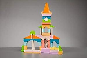 Cubika 11360Juguete, Madera Juguete, Toys, Juguete para Ladrillos, holzbausteine, Después De motricidad, Juguete