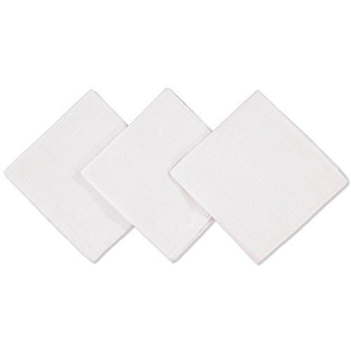 3er Pack Moltontücher ~ Uni Weiß ~ Wickelauflage Unterlage Spucktuch Tücher 100 % Baumwolle 80x80 cm