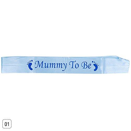 Teabelle Familie zu werden Mädchen Jungen Baby Dusche Band personalisierbar Party Schärpen Neugeborene Band Mummy to Be(blue) (Oma-baby-dusche)