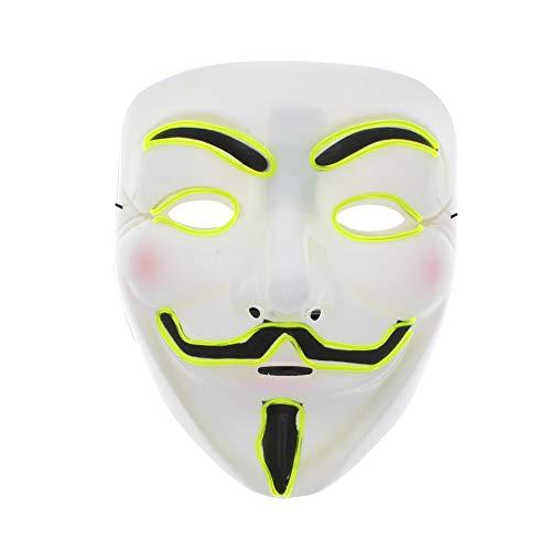 Kostüm Alten Guy - Zac's Alter Ego® - Guy-Fawkes-/Anonymous-Maske - beleuchtet - in 5 Farben