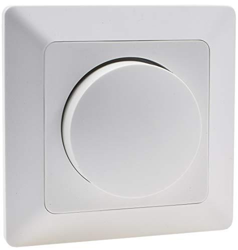 MILOS Dimmer für dimmbare 230V LED Lampen 3-60W I inkl. Rahmen Unterputz Montage Weiß Matt -