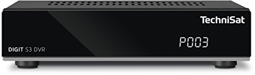TechniSat DIGIT S3 DVR / HD Sat-Receiver mit Single-Tuner für Empfang in HD mit PVR-Aufnahmefunktion, Timeshift, schwarz