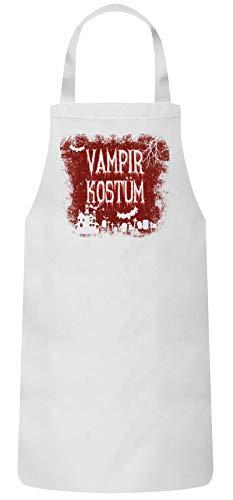 ShirtStreet Halloween Fasching Karneval Gruppen Frauen Herren Barbecue Baumwoll Grillschürze Kochschürze Vampir Kostüm, Größe: ()