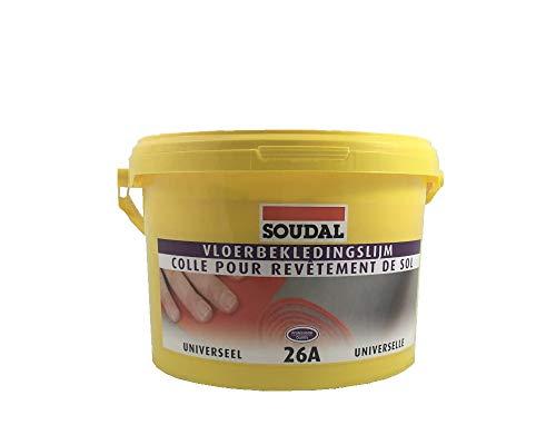 Soudal Bodenbelagskleber 26A für weiche Bodenbeläge wie Vinyl, Textil, PVC Linoleum Eimer 5Kg