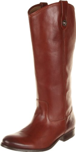 FRYE Women's Melissa Button Boot, Cognac Wide Calf Smooth Vintage Leather, 7 M US - Frye Melissa Boot Button