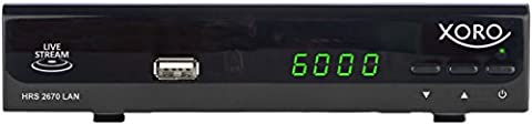 Xoro HRS 2670 LAN Satellitenreceiver (HDMI, SCART, Media Player, LiveTV-Streaming, 2x USB, SAT auf IP) schwarz