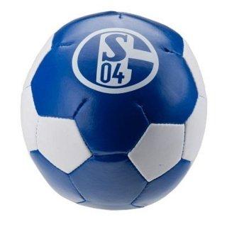 KNAUTSCHBALL VINYL BALL ø 10 cm FC SCHALKE 04 S04 weiß/blau 2Logos
