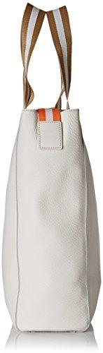 Clarks Tothill Rise, Sacs Portés Main Femme, 8x41x31 cm Blanc (White Leather)