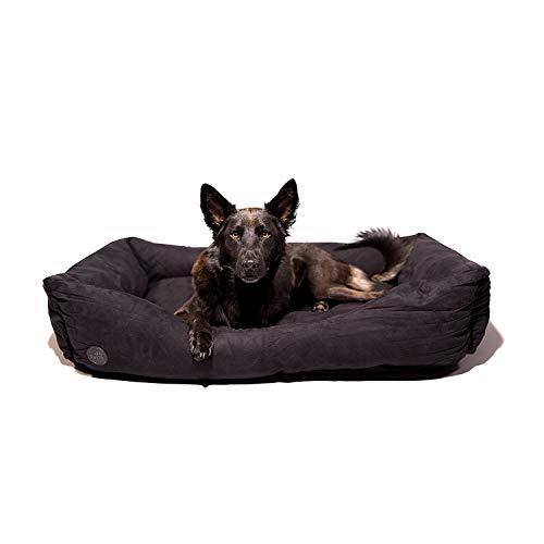 Pets&Partner Hundebett | Hundekissen | Hundekorb |Hunde Bett/Sofa für groß und Klein, Größe L bis XXL, XXL Schwarz