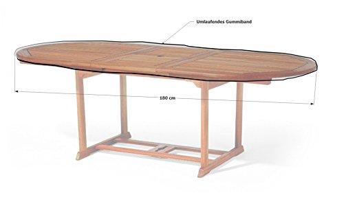 Grasekamp Gartentisch Tischplatten Abdeckung Schutzhülle Plane Abdeckplane 180x100cm Oval (Tischplatte Ovale)