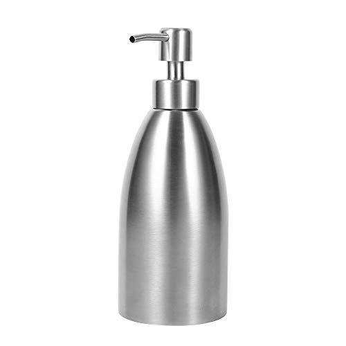 GBNIRE Küchen-Badseifenspender, vielseitig nachfüllbar Pumpflaschen aus rostfreiem Edelstahl, ideal für ätherische Öle, Lotionen, Flüssigseifen (Size : 500ml)
