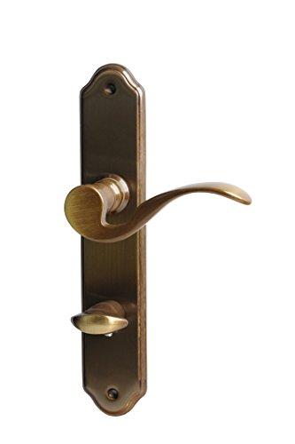Alpertec 32210803 Neal-LS Messing brüniert für Badtüren WC Drückergarnitur Türdrücker Türbeschläge Neu, Badezimmertüren