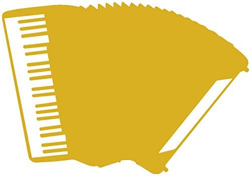 Akkordeon-mädchen (Samunshi® Akkordeon Aufkleber Autoaufkleber in 8 Größen und 25 Farben (15x10,5cm goldmetalleffekt))