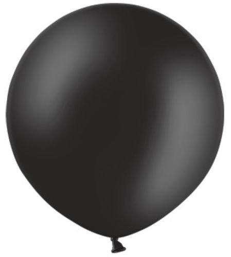 Belbal 2Fuß (61cm) 60cm groß Rund Latex Metallic Schwarz Hochzeit Luftballons-2Stück