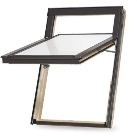 hochwertiges Holz Dachfenster Topschwing ähnlich Klappschwingfenster mit Eindeckrahmen und Dauerlüftung 114x140 cm S8 S08 SK08 (VKR Konzern Rooflite Velux) Abverkauf Aktion