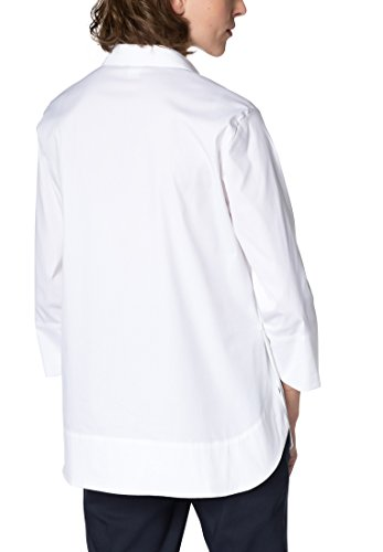 Eterna Chemisier à Manches 3/4 1863 by Premium Uni Blanc