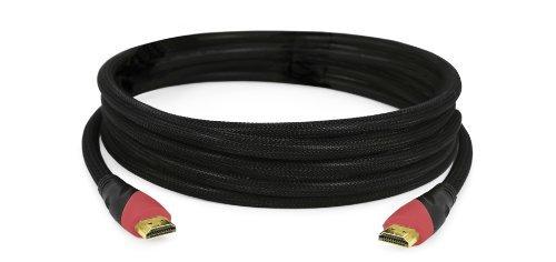 Aiino Cavo di Interconnessione HDMI 1.4 di 2Mt. High Speed con Ethernet 100 Mbps, Accessorio Compatibile con Lettore Bluray/DVD, Decoder DTV, Ricevitore Satellitare, con sole di Gioco, Pc, Apple Mac, Nero