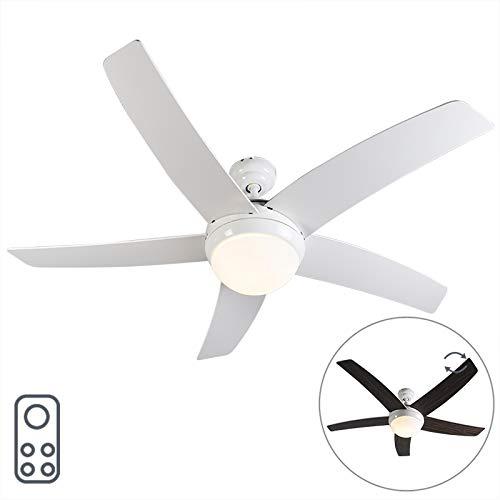 QAZQA Moderne Ventilateur de Plafond avec...