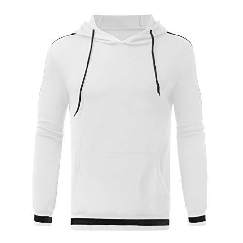 DNOQN Winterjacke Herren Sweater Männer Pullover Herren Langarm Herbst Winter Freizeit Sweatshirt Hoodies Top Bluse Trainingsanzüge Weiß...