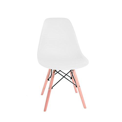 Holz Esszimmer-set (4x Stuhl Retro Lounge aus Holz Esszimmer Set Tisch Stühle weiß)