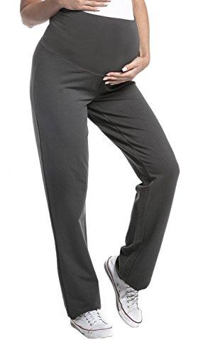 Zeta Ville - Women's Pregnancy Pants. Available In 3 Leg Lengths - 690c (Long Length Graphite, UK 12, L)