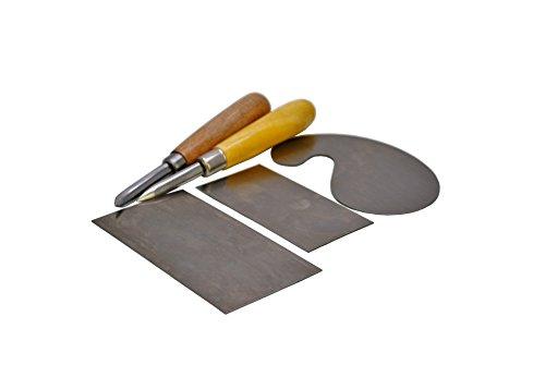 Proops 4Stück geformte Cabinet Schaber Set & 2x gerade und gebogen Brünieren Tools (w3513) versandkostenfrei innerhalb UK