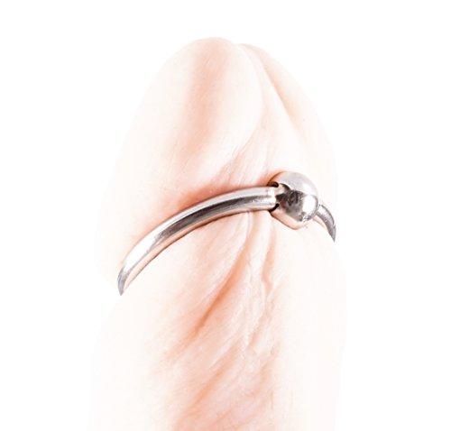 BIG DINGELING Eichelring, mit Lustkugel 10 mm für mehr Stimulation am Bändchen, verschiedene Durchmesser (Eichelring 36mm)
