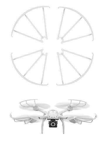 BlueBeach® 4 x Ersatz Propellerschutz für MJX X101 Drone Quadcopter