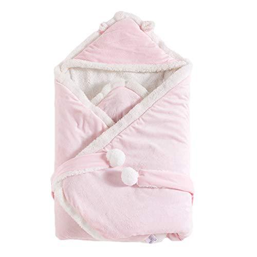 Schlafsäcke Baby Winter,Neugeborenes Baby Wickeln Swaddle Decke Kinderwagen Schlafsack für 0-24 Monat Baby (Rosa, 80cmx80cm)