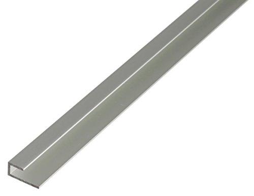 GAH-ALBERTS 030944 Abschlussprofil - selbstklemmend, Aluminium, silberfarbig eloxiert, 1000 x 20 x 9 mm