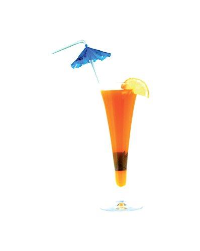 Girm®–S5628–12Stück, Trinkhalme Cocktail mit Schirm–Bunte Trinkhalme aus Kunststoff–Lange Trinkhalme flexibel–ideal für Bar, Eisdiele, lokalen Nacht, Buffet, Party -