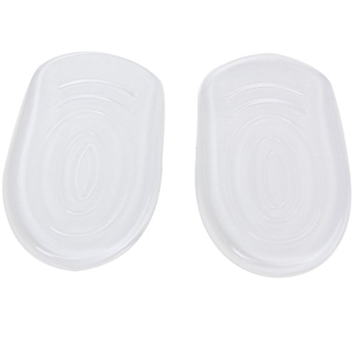 Imported 1 Pair Footful Silicone Gel Back heel Half Insoles Inserts for High-Heel Shoes  available at amazon for Rs.190