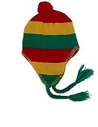 d459a43e6b78 Générique Bonnet PERUVIEN Rasta Jamaique Afrique Rouge Jaune Vert Neuf  Hommes Femmes ...