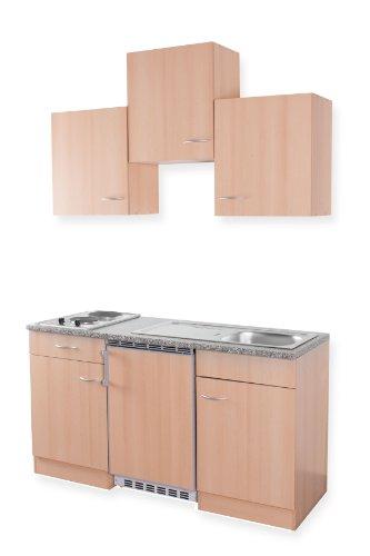 Miniküche mit kühlschrank  Pantryküche mit Kochplatten, Kühlschrank, Oberschränke und ...