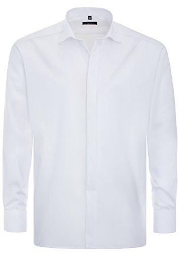 Eterna - Gala - Comfort Fit - Bügelfreies Herren Hemd mit verdeckter Knopfleiste und Kent Kragen in Weiß (8500 E387) Weiß (00)