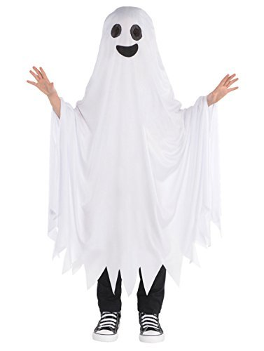 Ghost Cape Childrens Fancy Dress Halloween Spooky Ghoul -
