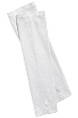 Coolibar UPF50+ Manches de protection UV blanc