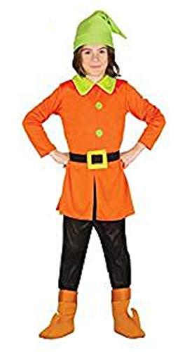 Wald Zwerg - Kostüm f. Kinder Karneval Sieben Märchen Schneewittchen Gr. 98 - 128, Größe:122/128