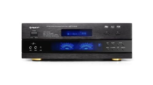 Auna AMP-5100 Amplificatore audio surround 5.1 finale di potenza Hi-Fi (2 x 100 Watt RMS + 3 x 40 Watt RMS, audio ottico, audio coassiale, ricevitore radio)