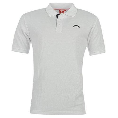 Slazenger Mens Clothing Short Sleeve Plain Polo Shirt Fashion Top