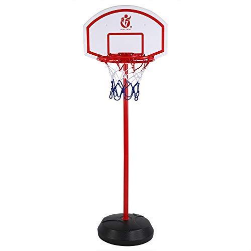Greensen Basketballständer Indoor Basketballkorb mit Ständer für Kinder Metall Ständer Basketball Backboard Höhenverstellbar Basketballanlage mit Ball & Pumpe Indoor Outdoor Kinder Geschenk