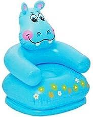 Fun Toys India Inflatable PVC Animal Chair ( Hippo Shape Kids Chair, Blue) (FTI-19)